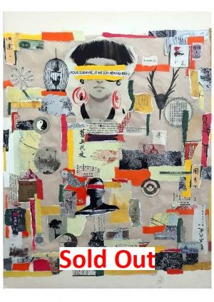 Voldia-on-the-road-collage-2018-art-brut-paris-Sold-out