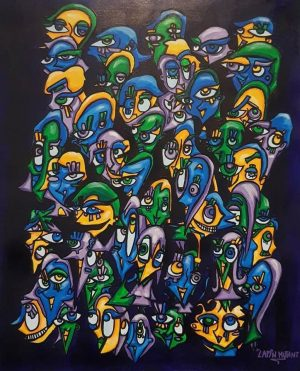 Lapin-mutant-toile-street-art-urban-art-sans-titre-2019