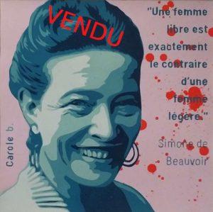 Simone-de-Beauvoir-la-féministe-Carole-b-Vendu-Ybackgalerie-ARTree