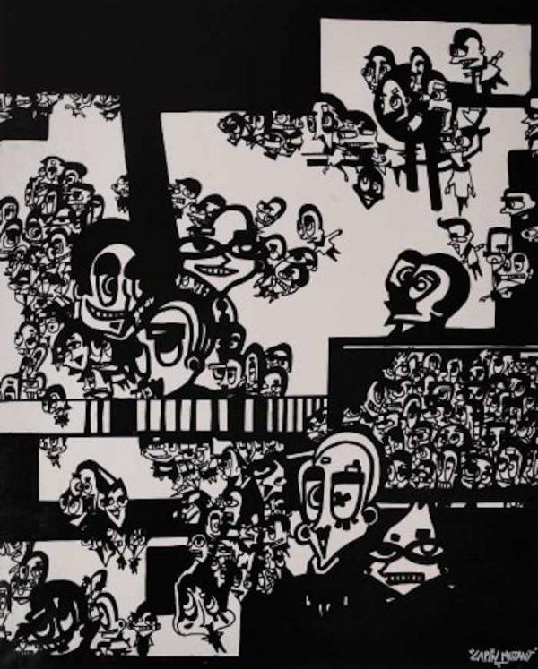 Lapin-mutant-toile-street-art-urban-art-ville-refuges-2020-ARTree-Ybackgalerie