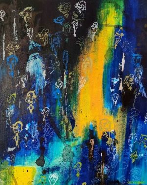 Lapin-mutant-toile-street-art-urban-art-villefantôme-2020-ARTree-Ybackgalerie
