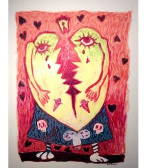 Emmanuel-Torlois-The-heart-of-Scottish-Dolphins-2020-Art-Outsider-artree-ybackgalerie
