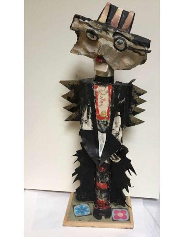 alain-aghaian-recup-art-Sculpture-Carton-ARTree-Ybackgalerie