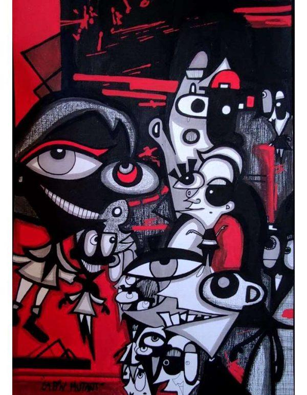 Lapin-mutant-dessin-street-art-urban-art-Rouge-2020-ARTree-Ybackgalerie