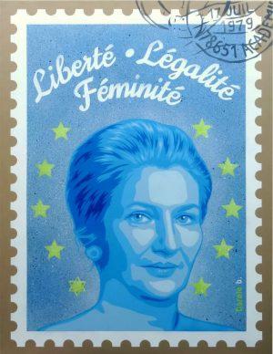 Liberté-Légalité-Féminité-pochoir-Carole-b-Ybackgalerie-ARTree