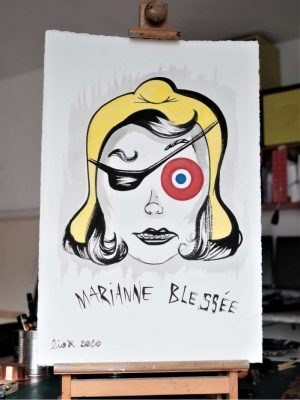 Liox-Street-Art-Urban-Marianne-blessee-artree-ybackgalerie