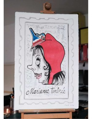 Liox-Street-Art-Urban-Marianne-timbree-artree-ybackgalerie