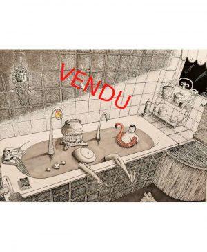Alec-Sonder-l-heure-du-bain-Original-Vendu-Ybackgalerie-ARTree