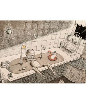 Alec-Sonder-l-heure-du-bain-Original-Ybackgalerie-ARTree
