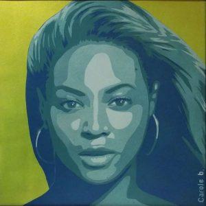 Beyoncé-Projet-Warhol-pochoir-5-sur-10-Carole-b-Ybackgalerie-ARTree
