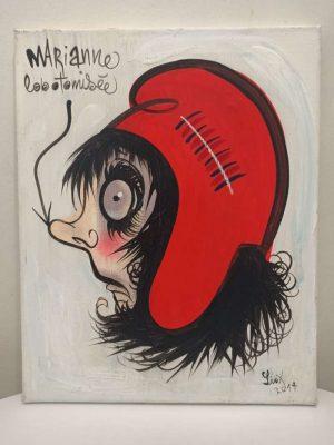 Marianne-Lobotomisee-Ref-106-Liox-Street-Art-Urban-Artree-ybackgalerie