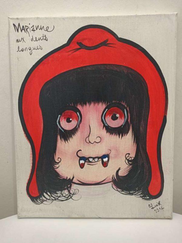Marianne-aux-dents-longues-Ref-105-Liox-Street-Art-Urban-Artree-ybackgalerie