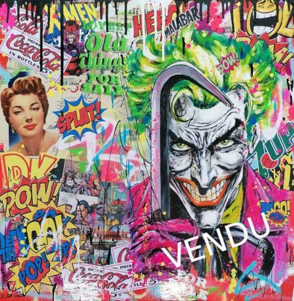 David-Drioton-JOKER-Pop-Art-Vendu-Ybackgalerie-ART