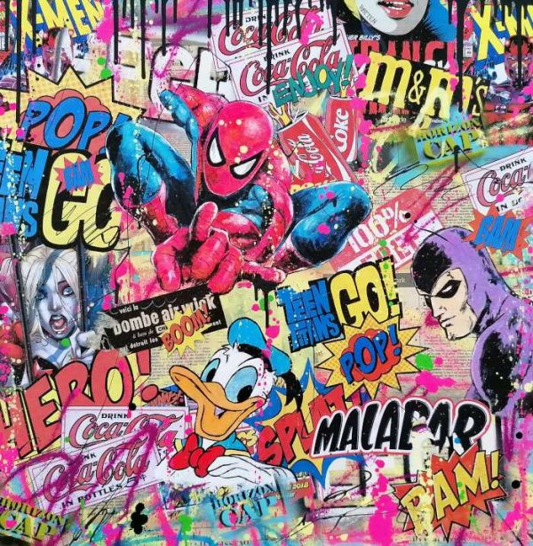 David-Drioton-spidgirly-Pop-Art--Ybackgalerie-ARTree