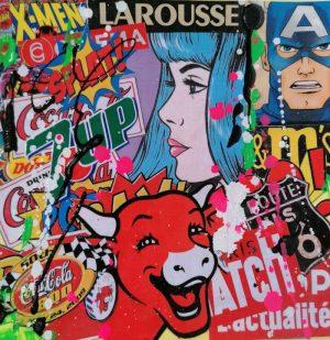 David-Drioton-THE-BEAUTY-Pop-Art-Ybackgalerie-Artree